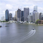 Brisbane - Notre point de chute