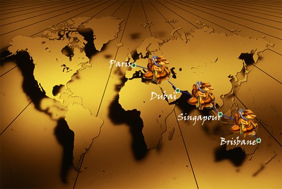 Le demi tour du monde en 24h